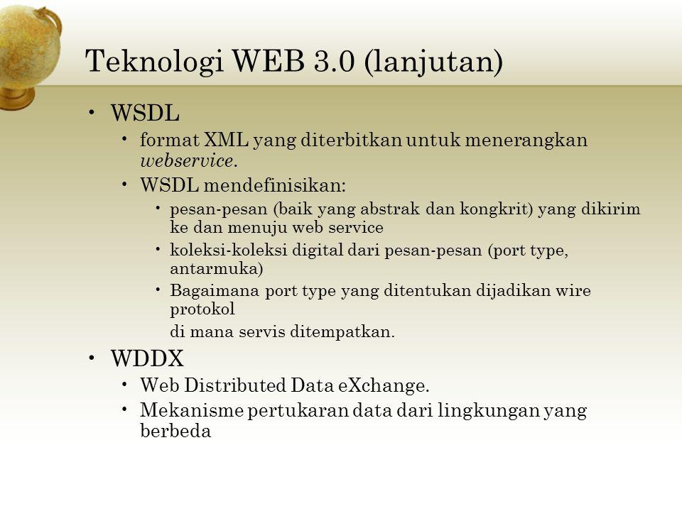 Teknologi WEB 3.0 (lanjutan)