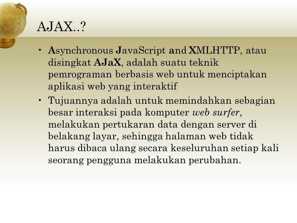 AJAX..