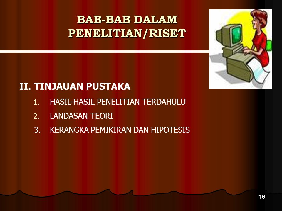 BAB-BAB DALAM PENELITIAN/RISET