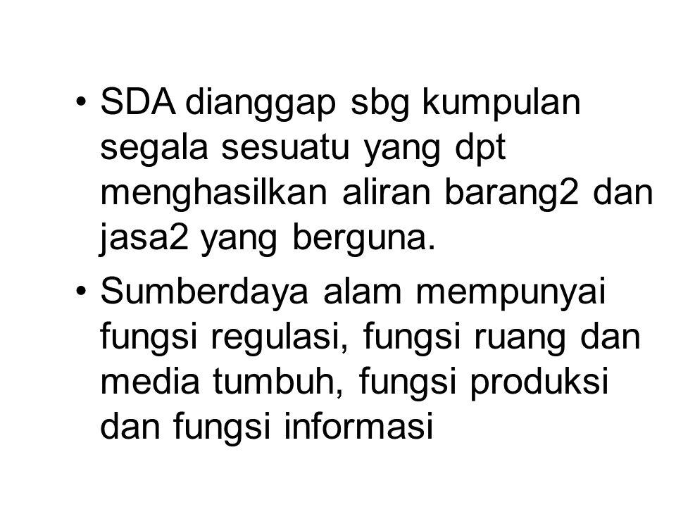 SDA dianggap sbg kumpulan segala sesuatu yang dpt menghasilkan aliran barang2 dan jasa2 yang berguna.