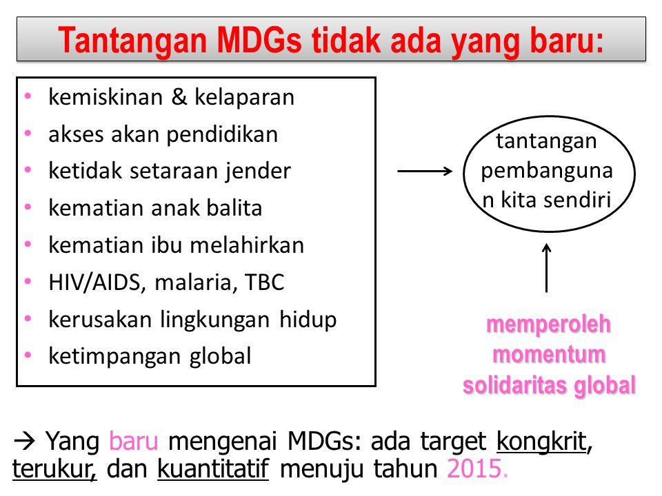 Tantangan MDGs tidak ada yang baru: