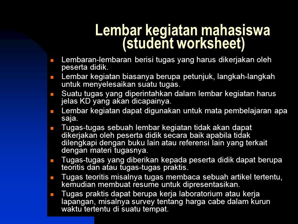 Lembar kegiatan mahasiswa (student worksheet)