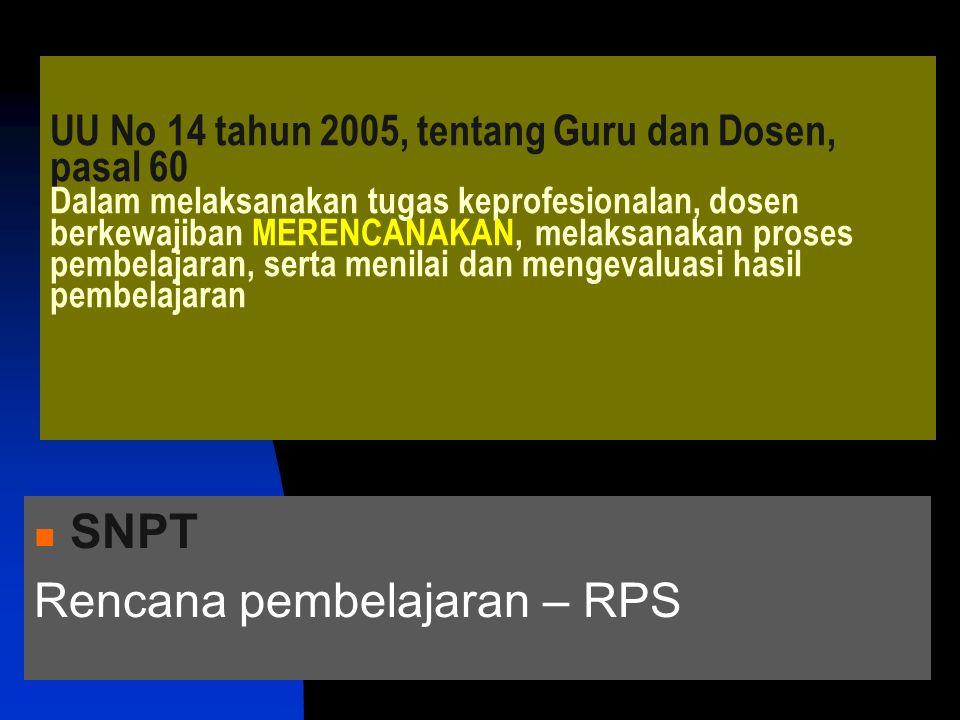 Rencana pembelajaran – RPS