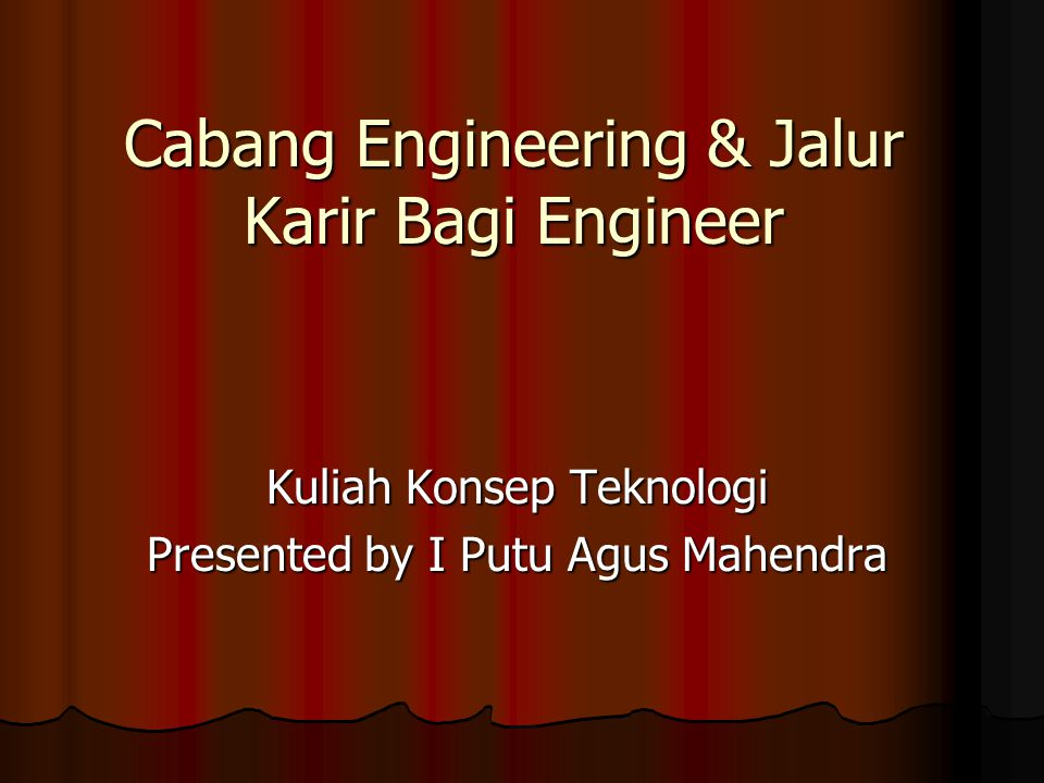 Cabang Engineering & Jalur Karir Bagi Engineer