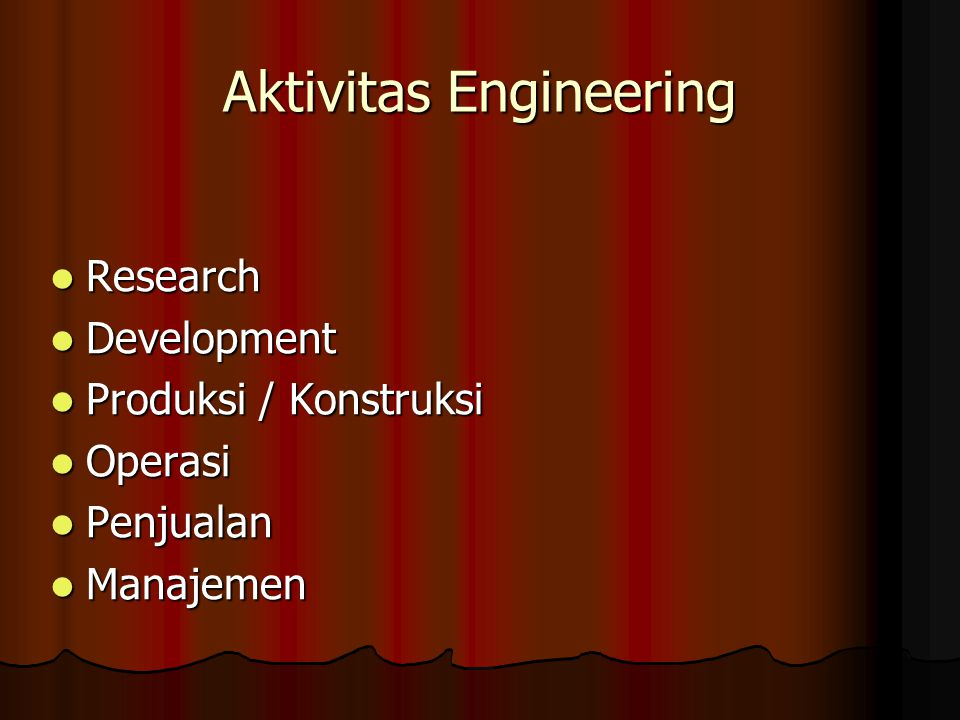 Aktivitas Engineering