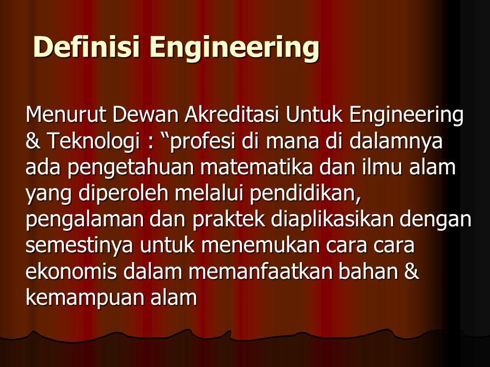 Definisi Engineering