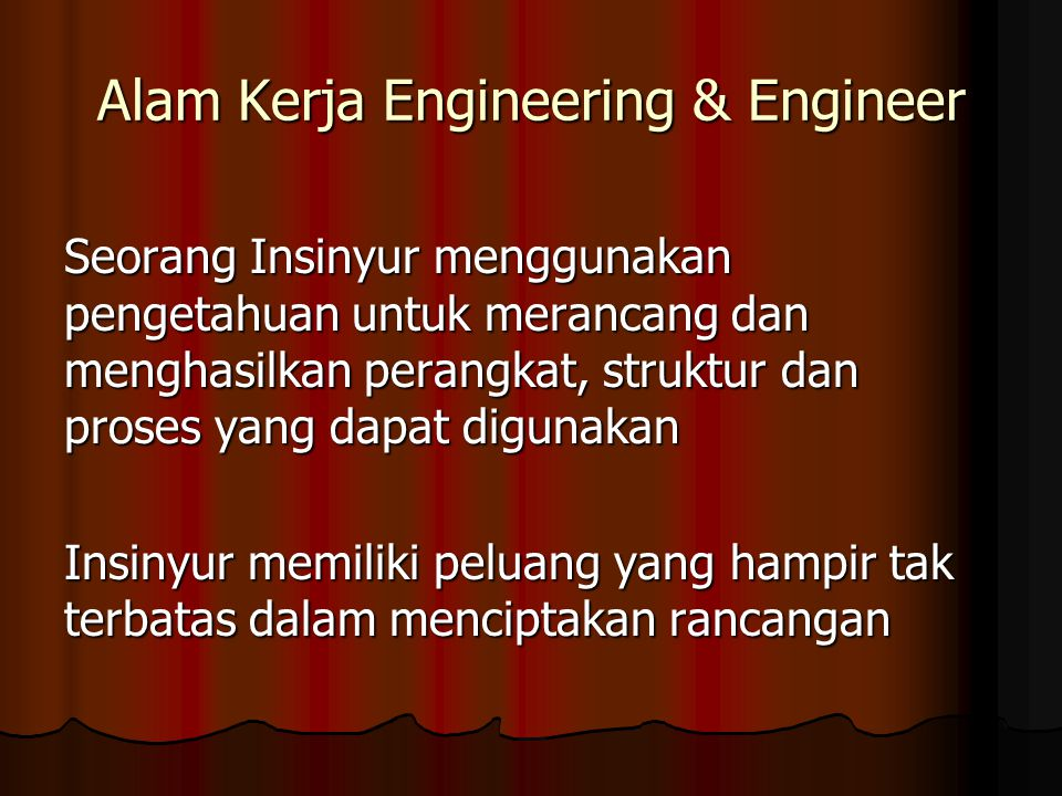 Alam Kerja Engineering & Engineer
