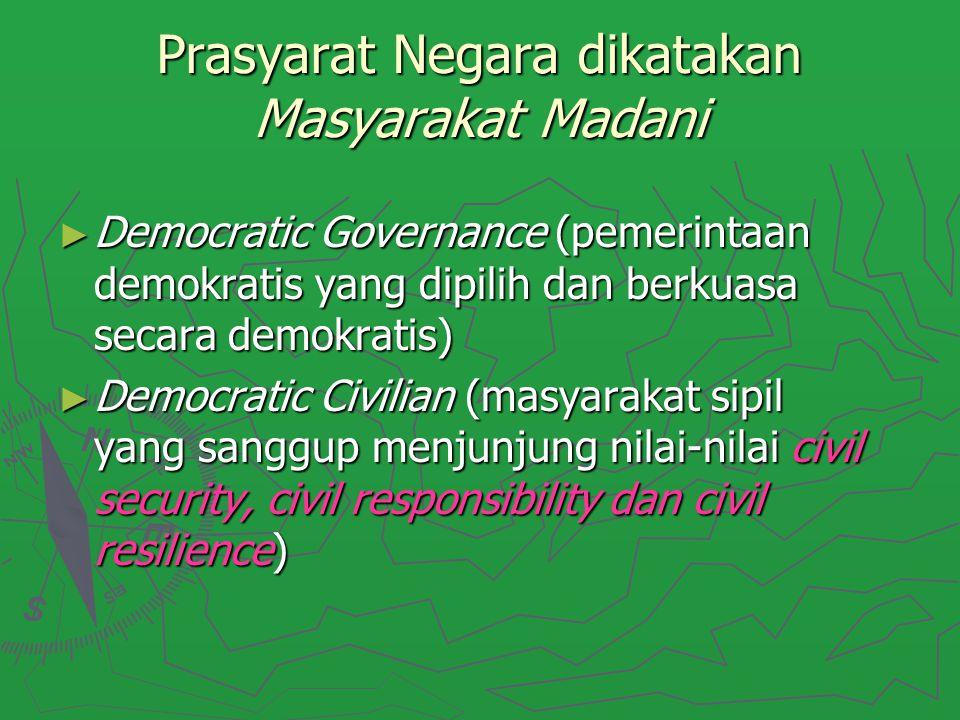 Prasyarat Negara dikatakan Masyarakat Madani