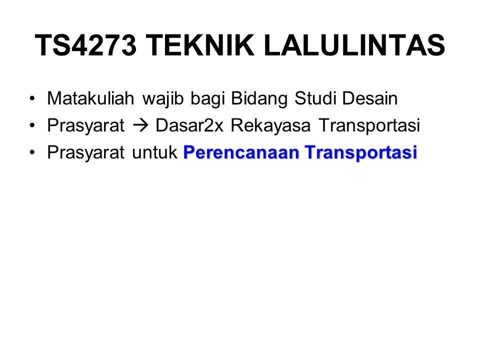 TS4273 TEKNIK LALULINTAS Matakuliah wajib bagi Bidang Studi Desain