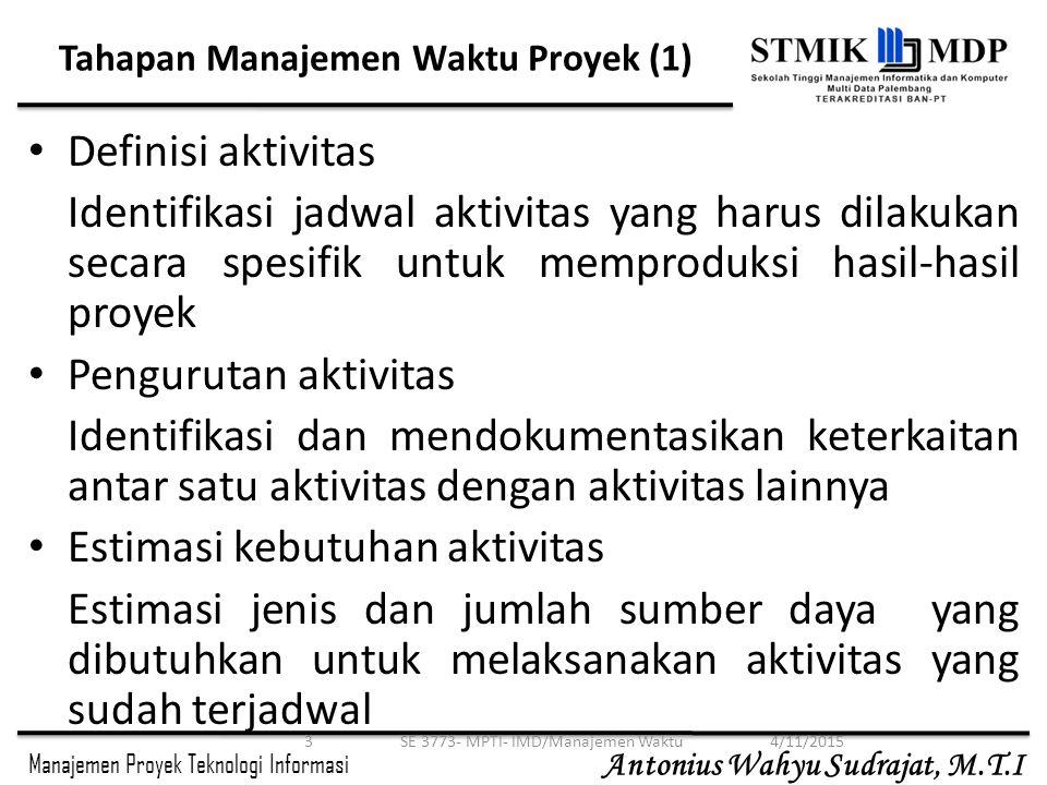 Tahapan Manajemen Waktu Proyek (1)