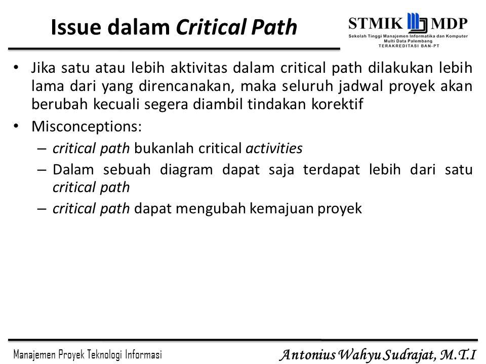 Issue dalam Critical Path