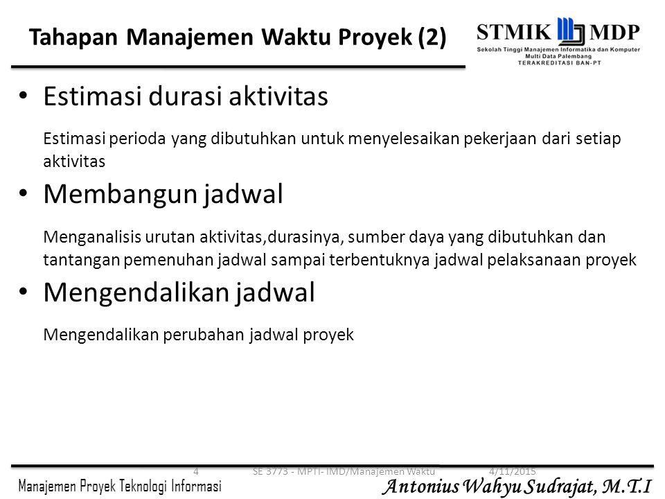 Tahapan Manajemen Waktu Proyek (2)