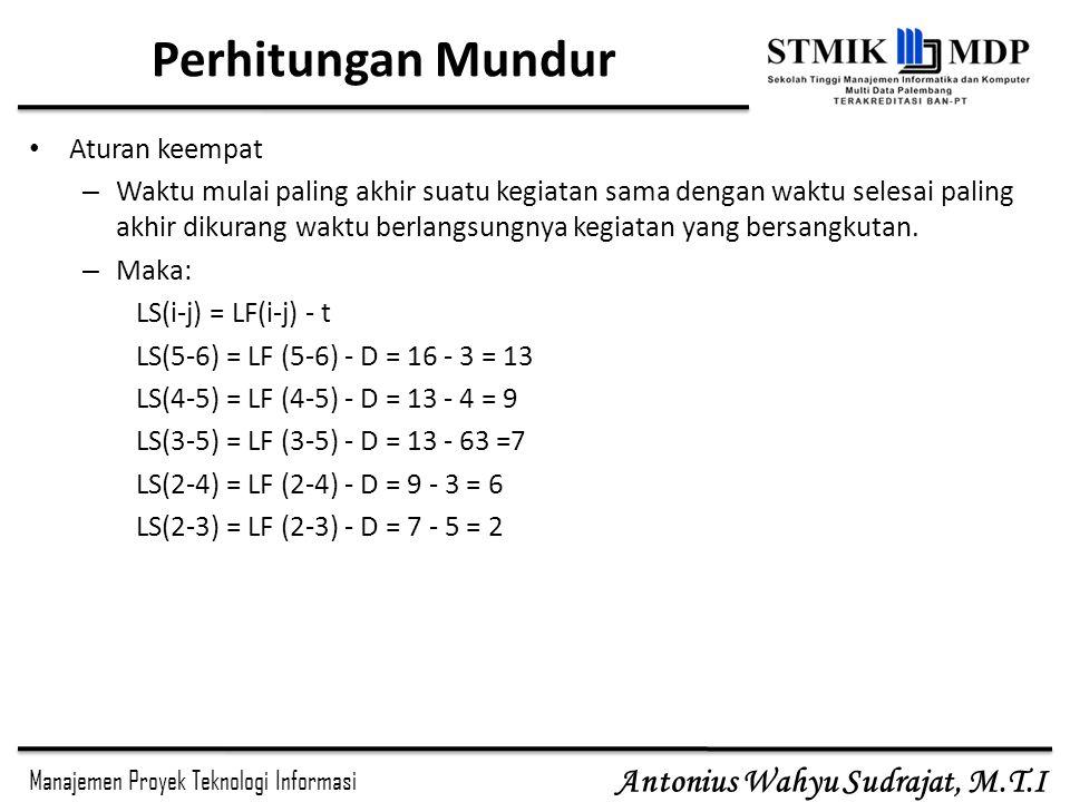 Perhitungan Mundur Aturan keempat