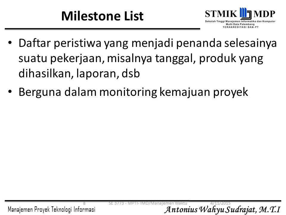 SE 3773 - MPTI- IMD/Manajemen Waktu