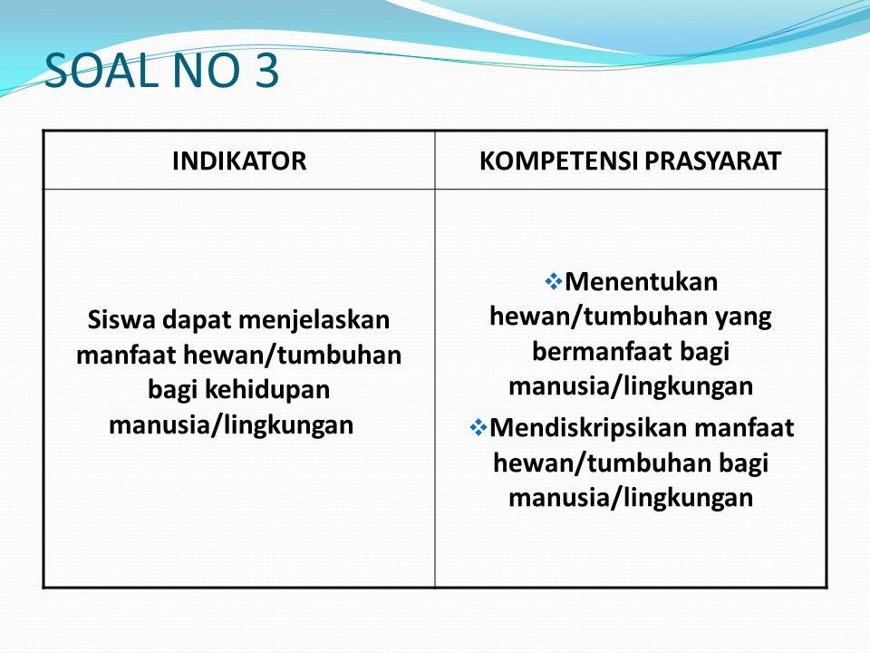 SOAL NO 3 INDIKATOR KOMPETENSI PRASYARAT