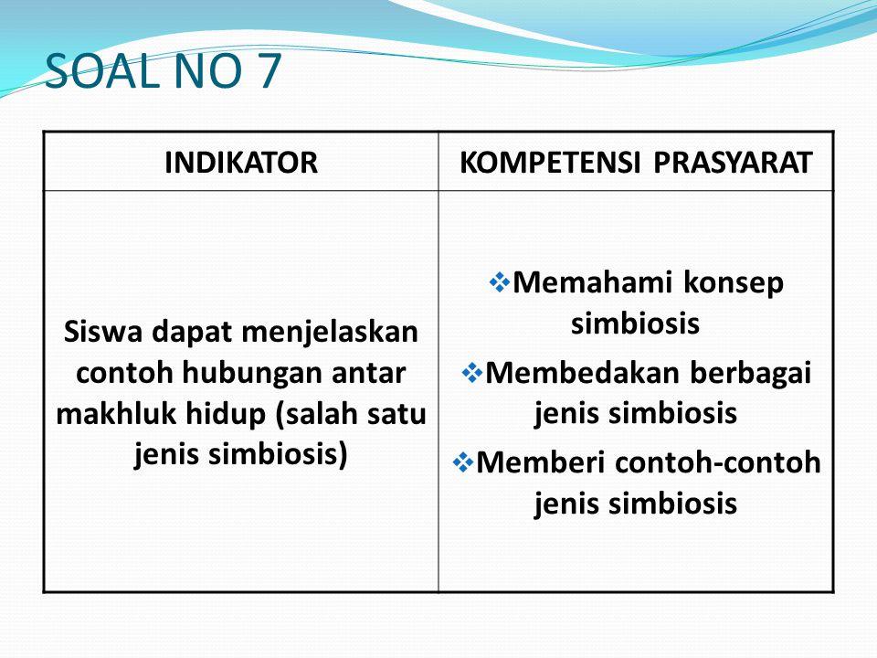 SOAL NO 7 INDIKATOR KOMPETENSI PRASYARAT