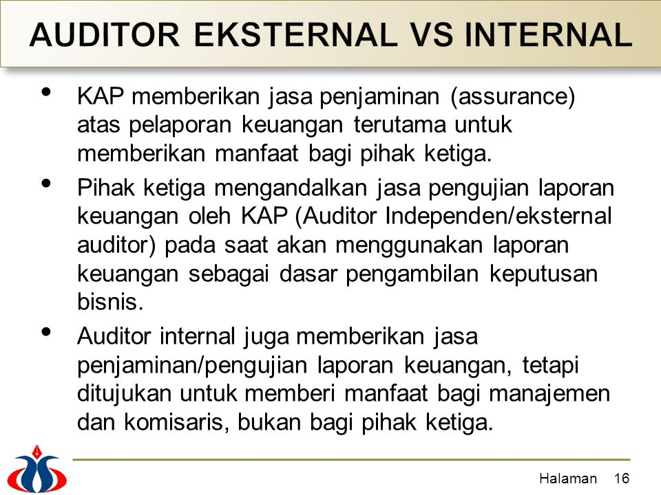AUDITOR EKSTERNAL VS INTERNAL