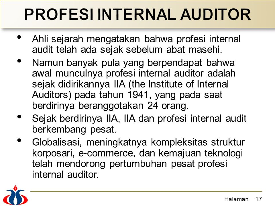 PROFESI INTERNAL AUDITOR