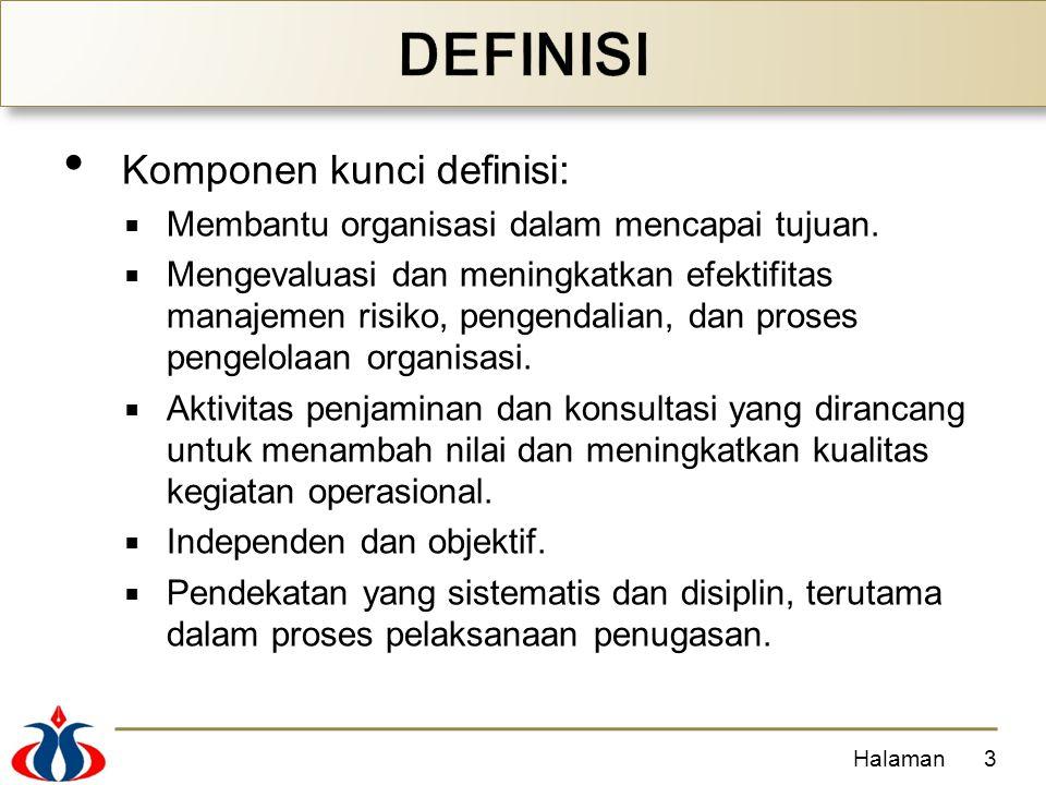 DEFINISI Komponen kunci definisi: