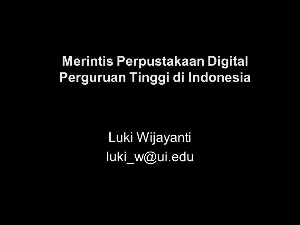 Merintis Perpustakaan Digital Perguruan Tinggi di Indonesia