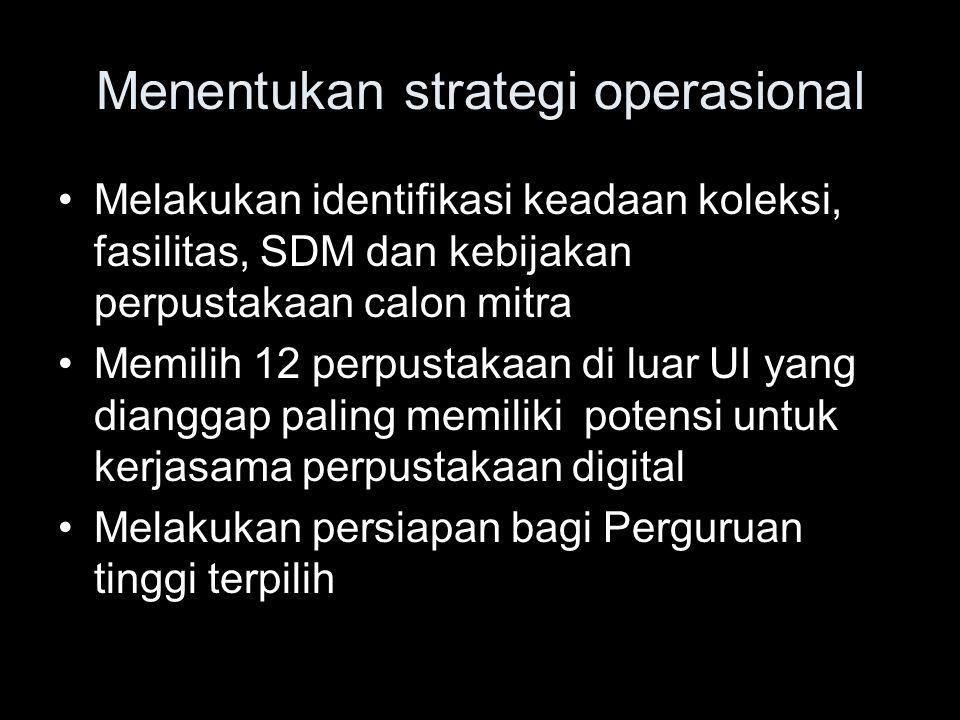 Menentukan strategi operasional