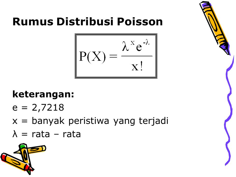 Rumus Distribusi Poisson