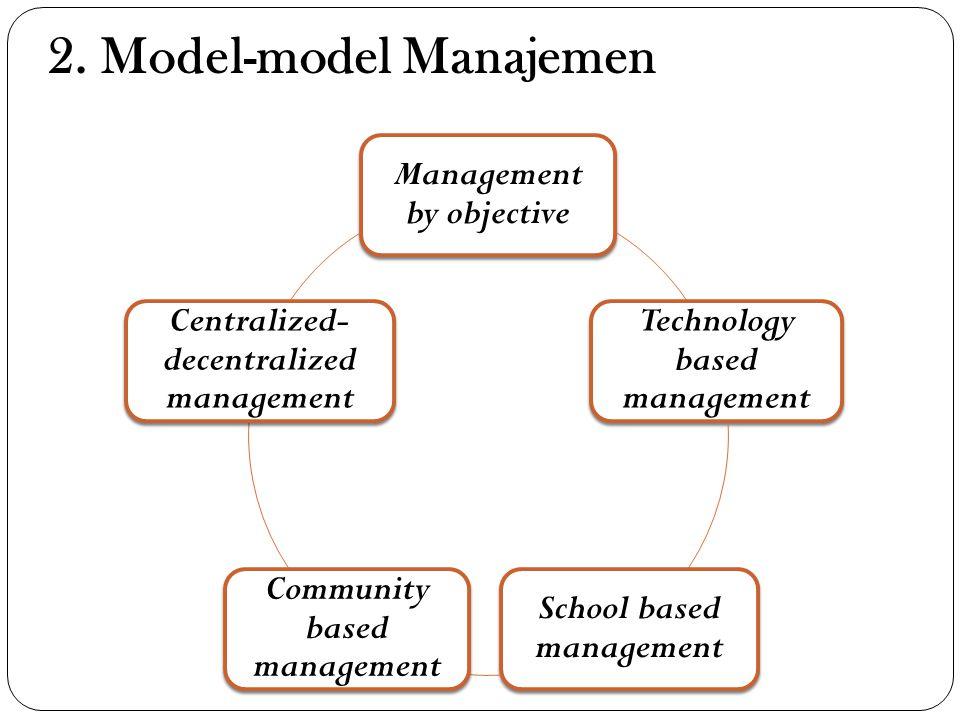 2. Model-model Manajemen