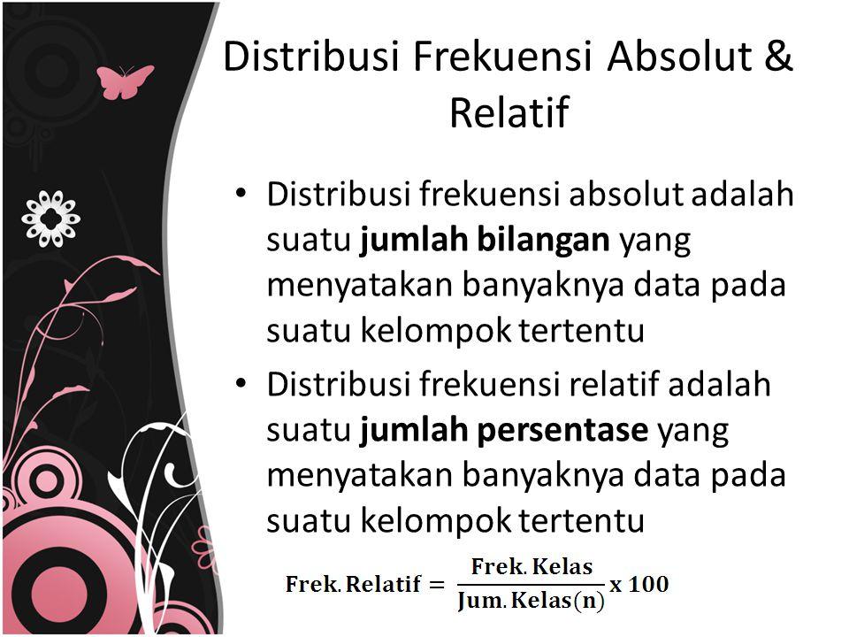 Distribusi Frekuensi Absolut & Relatif
