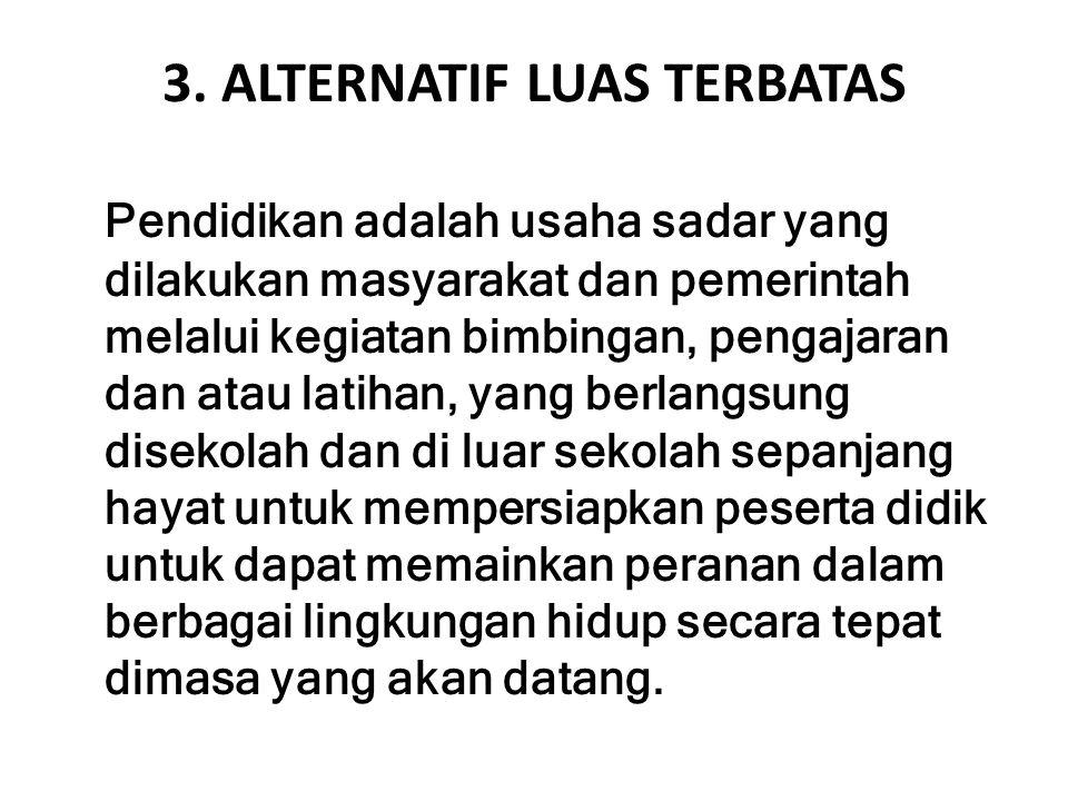 3. ALTERNATIF LUAS TERBATAS