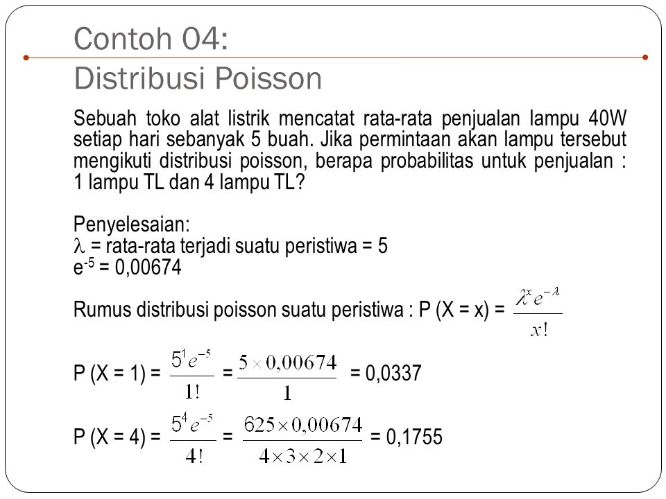 Contoh 04: Distribusi Poisson