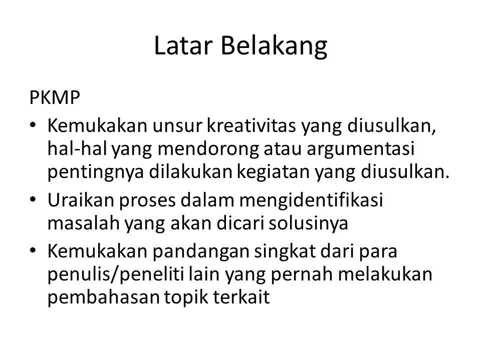 Latar Belakang PKMP.