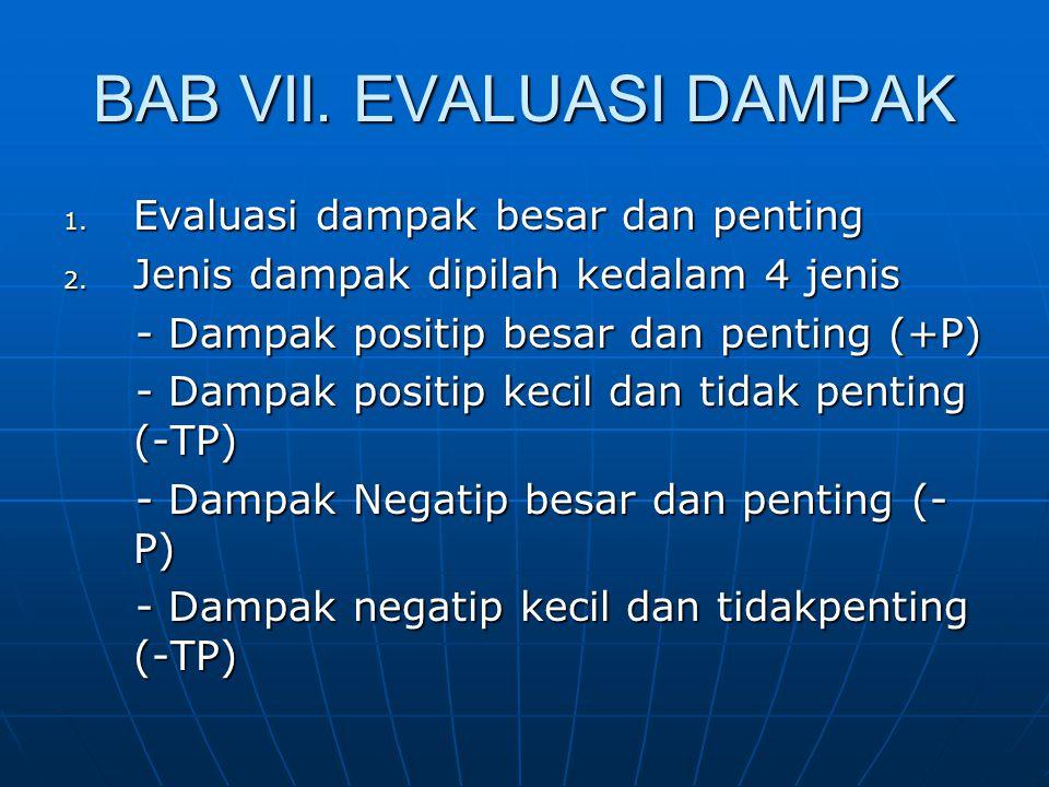 BAB VII. EVALUASI DAMPAK