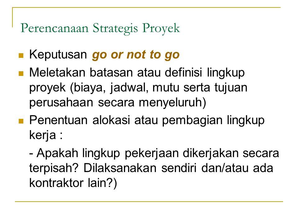 Perencanaan Strategis Proyek