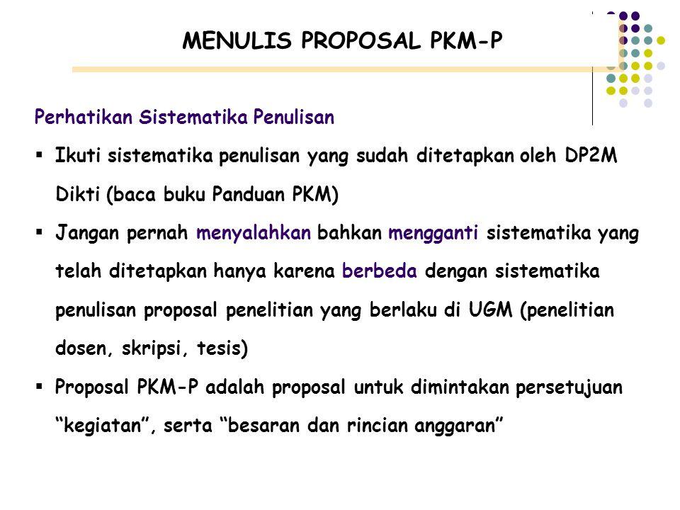 MENULIS PROPOSAL PKM-P