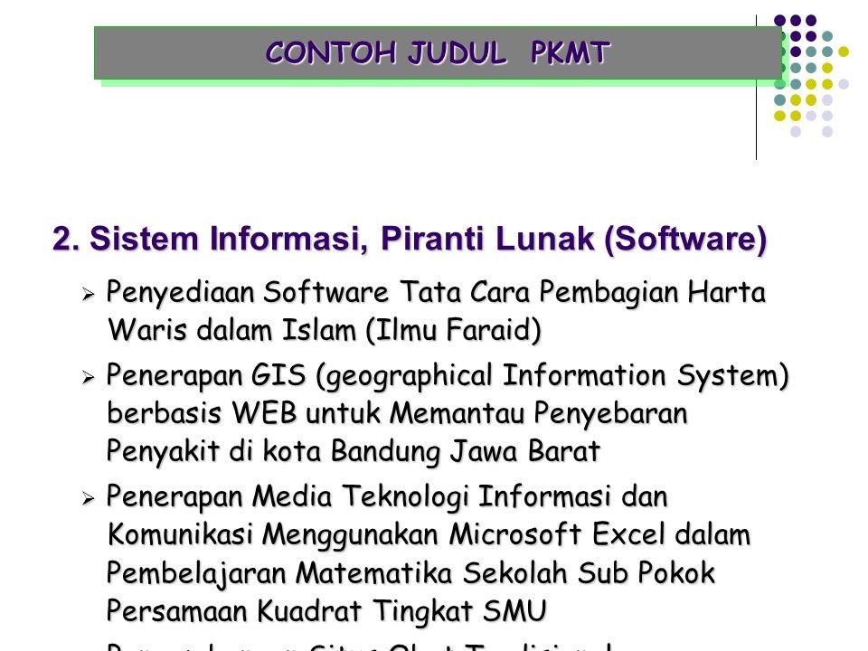 2. Sistem Informasi, Piranti Lunak (Software)