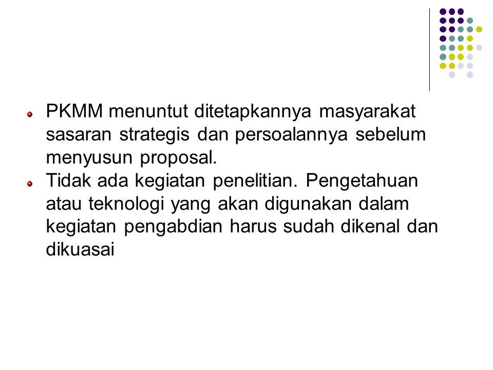 Karakteristik PKMM (lanjutan)