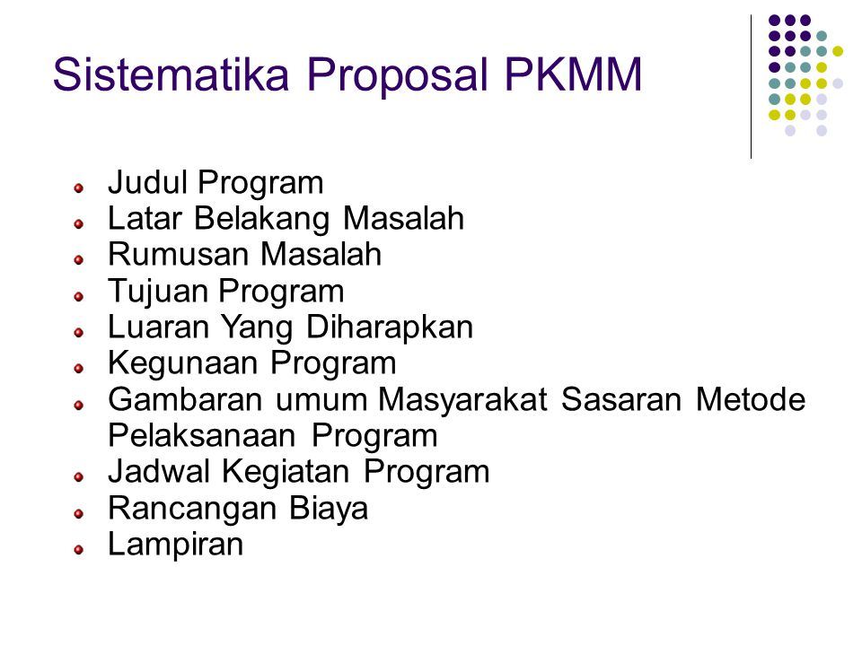Sistematika Proposal PKMM