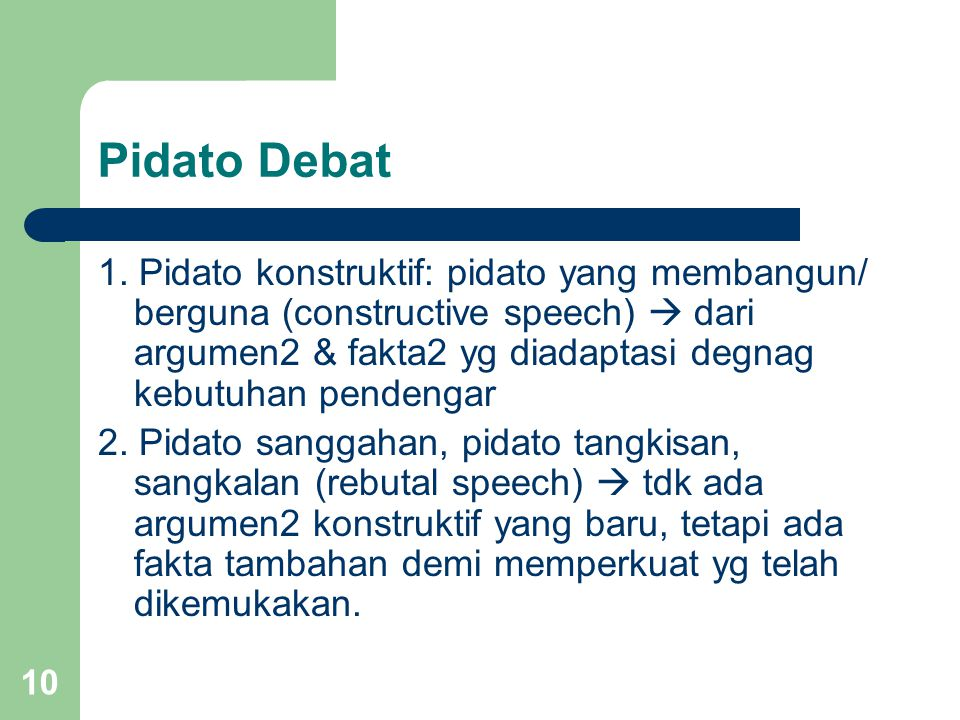 Pidato Debat