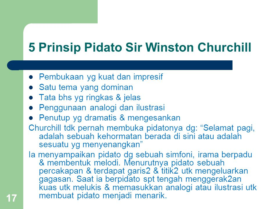 5 Prinsip Pidato Sir Winston Churchill