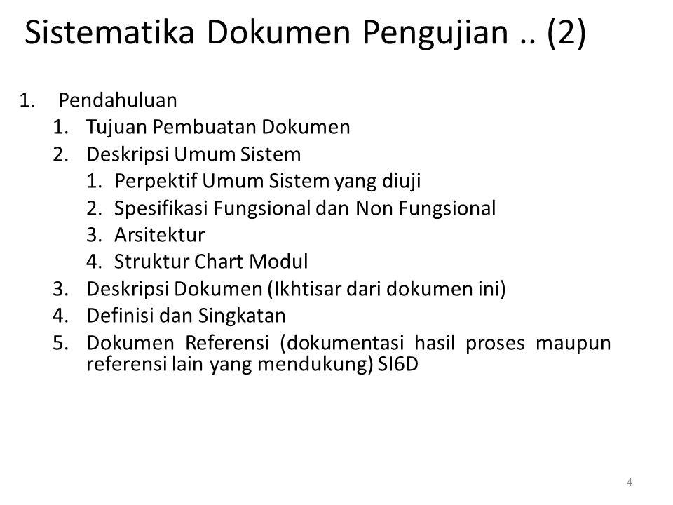 Sistematika Dokumen Pengujian .. (2)