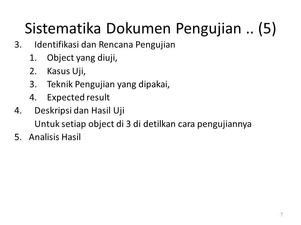 Sistematika Dokumen Pengujian .. (5)