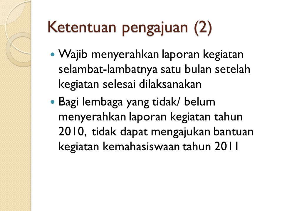 Ketentuan pengajuan (2)