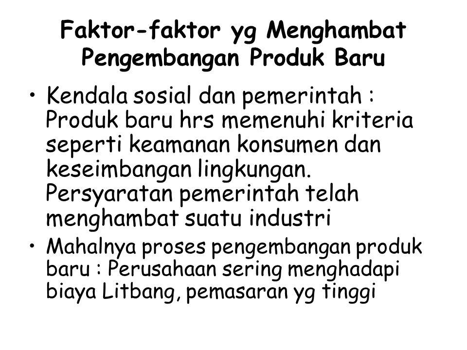 Faktor-faktor yg Menghambat Pengembangan Produk Baru