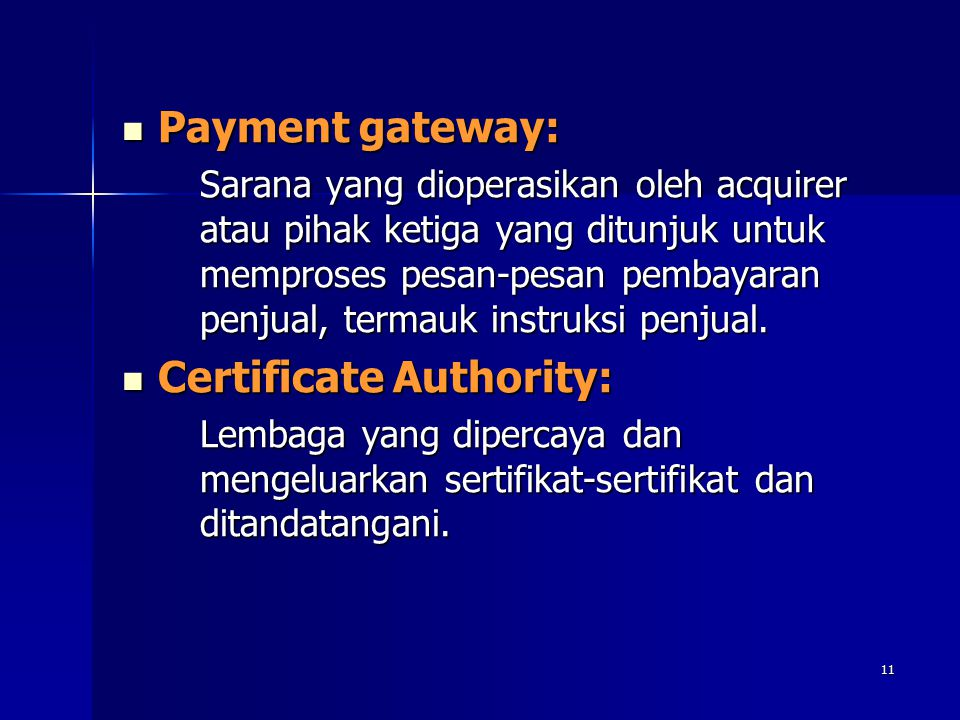 Certificate Authority:
