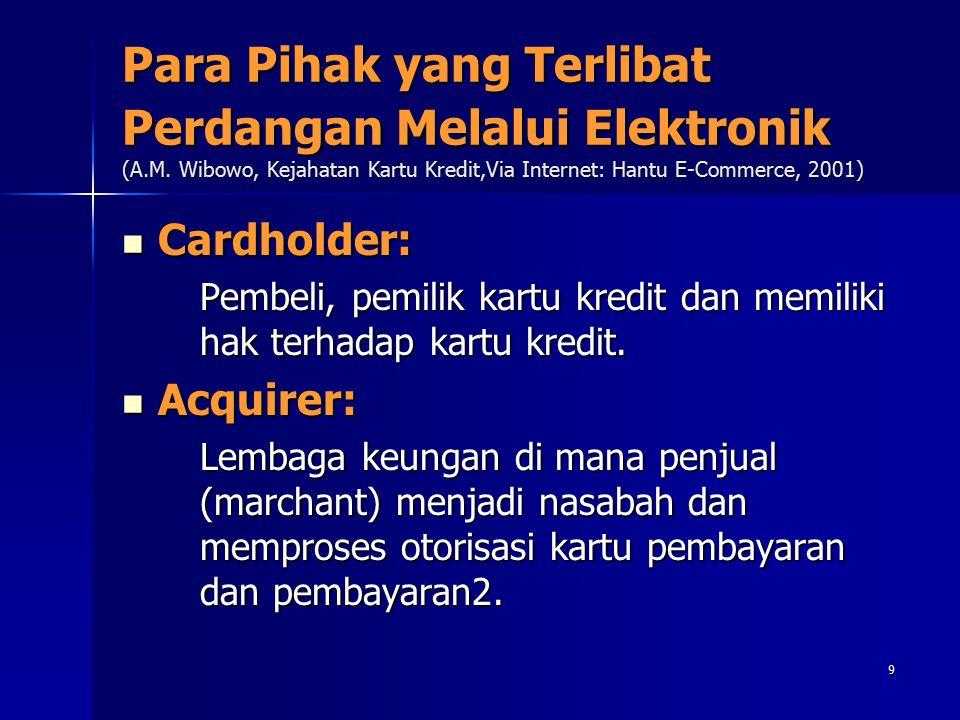 Para Pihak yang Terlibat Perdangan Melalui Elektronik (A. M