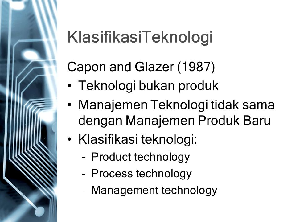 KlasifikasiTeknologi