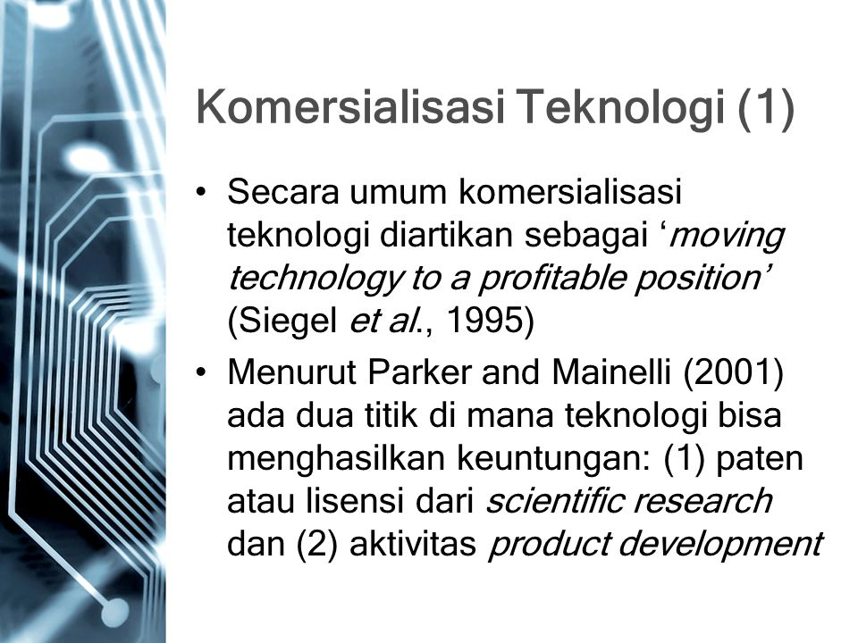 Komersialisasi Teknologi (1)