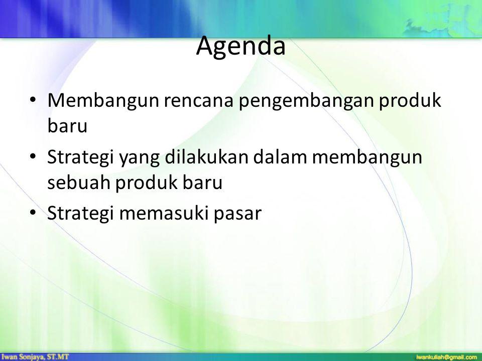 Agenda Membangun rencana pengembangan produk baru