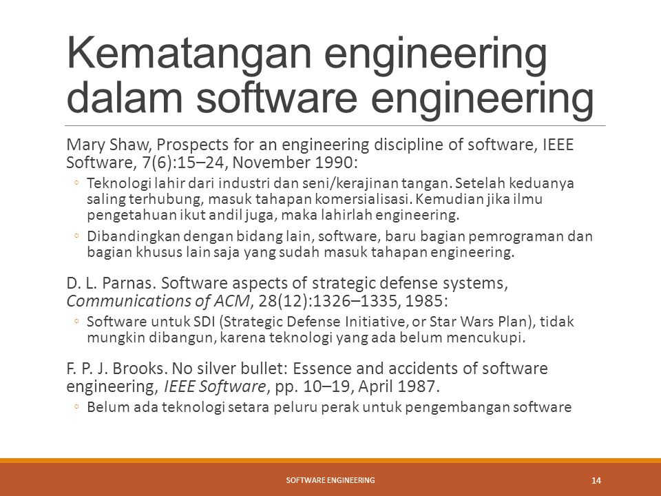 Kematangan engineering dalam software engineering