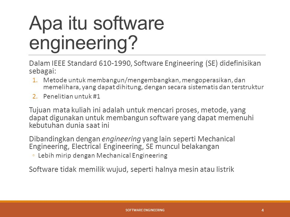 Apa itu software engineering